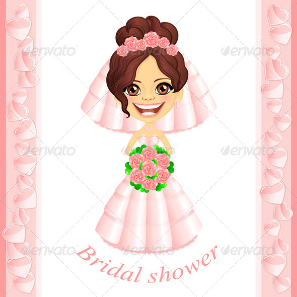 GraphicRiver Pink Bridal Shower Invitation 4862562