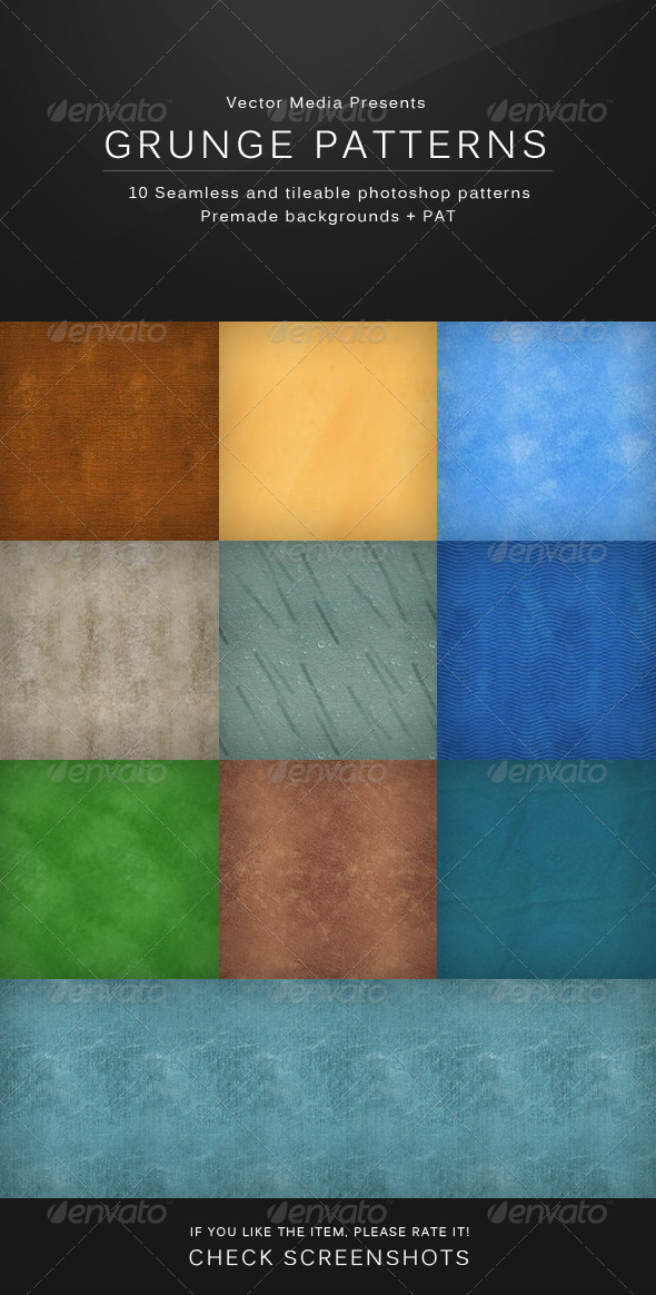 GraphicRiver Grunge Patterns 4862895