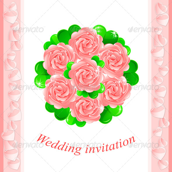 GraphicRiver Pink Wedding Invitation 4862969
