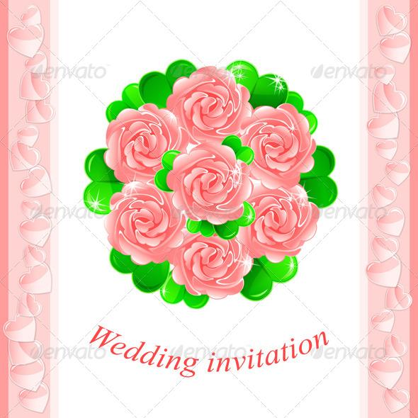 Pink Wedding Invitation - Weddings Seasons/Holidays