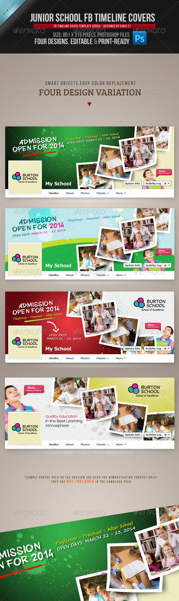 GraphicRiver Junior School FB Timeline Covers 4863151