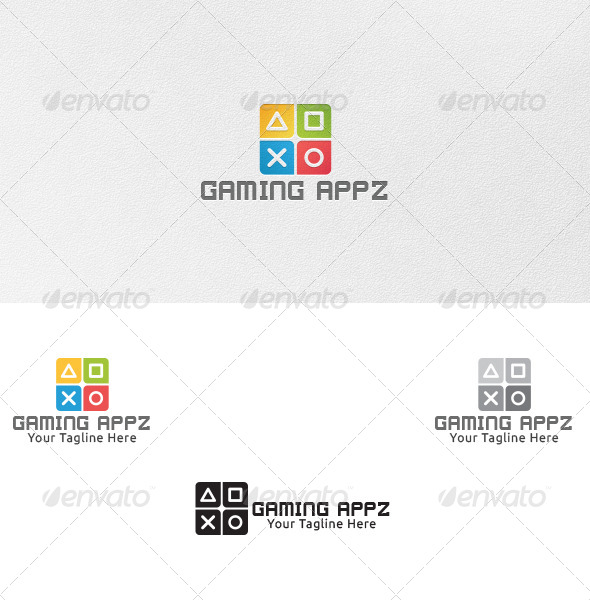 GraphicRiver Gaming Apps Logo Template 4863336