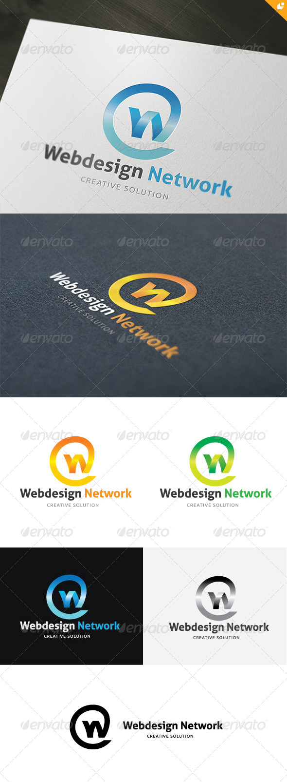 Web Design Network Logo - Letters Logo Templates
