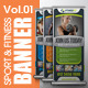 Fitness Banner - GraphicRiver Item for Sale