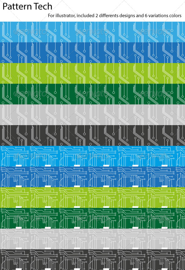 GraphicRiver Seamless Pattern Tech 4863880