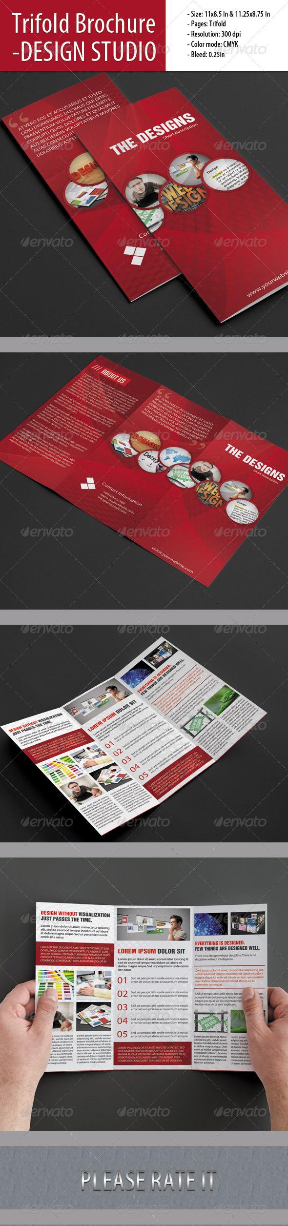 GraphicRiver Trifold Brochure For Design Studio 4864009