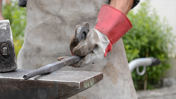 Blacksmith Working With Steel