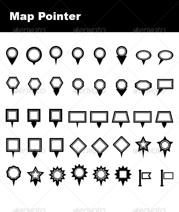 GraphicRiver Map Pointers 4864493