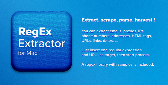 CodeCanyon RegEx Extractor for Mac 4865199