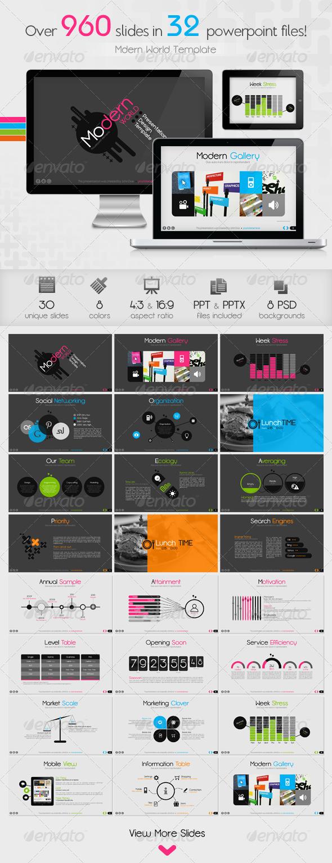GraphicRiver Modern World Powerpoint Presentation Template 4865520