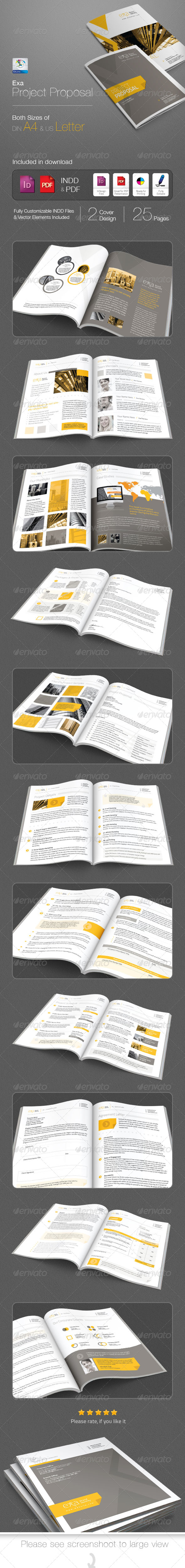 GraphicRiver Exa Clean Project Proposal 4865612