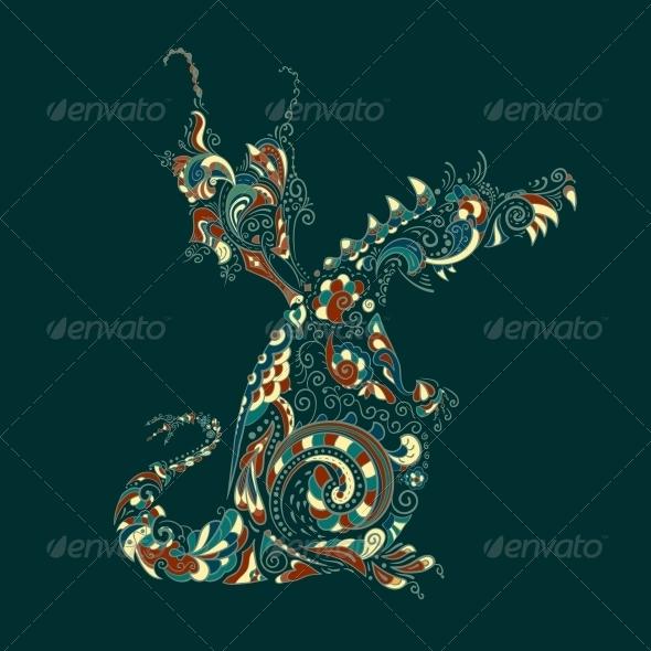 GraphicRiver Ornate Vector Dragon 4865863