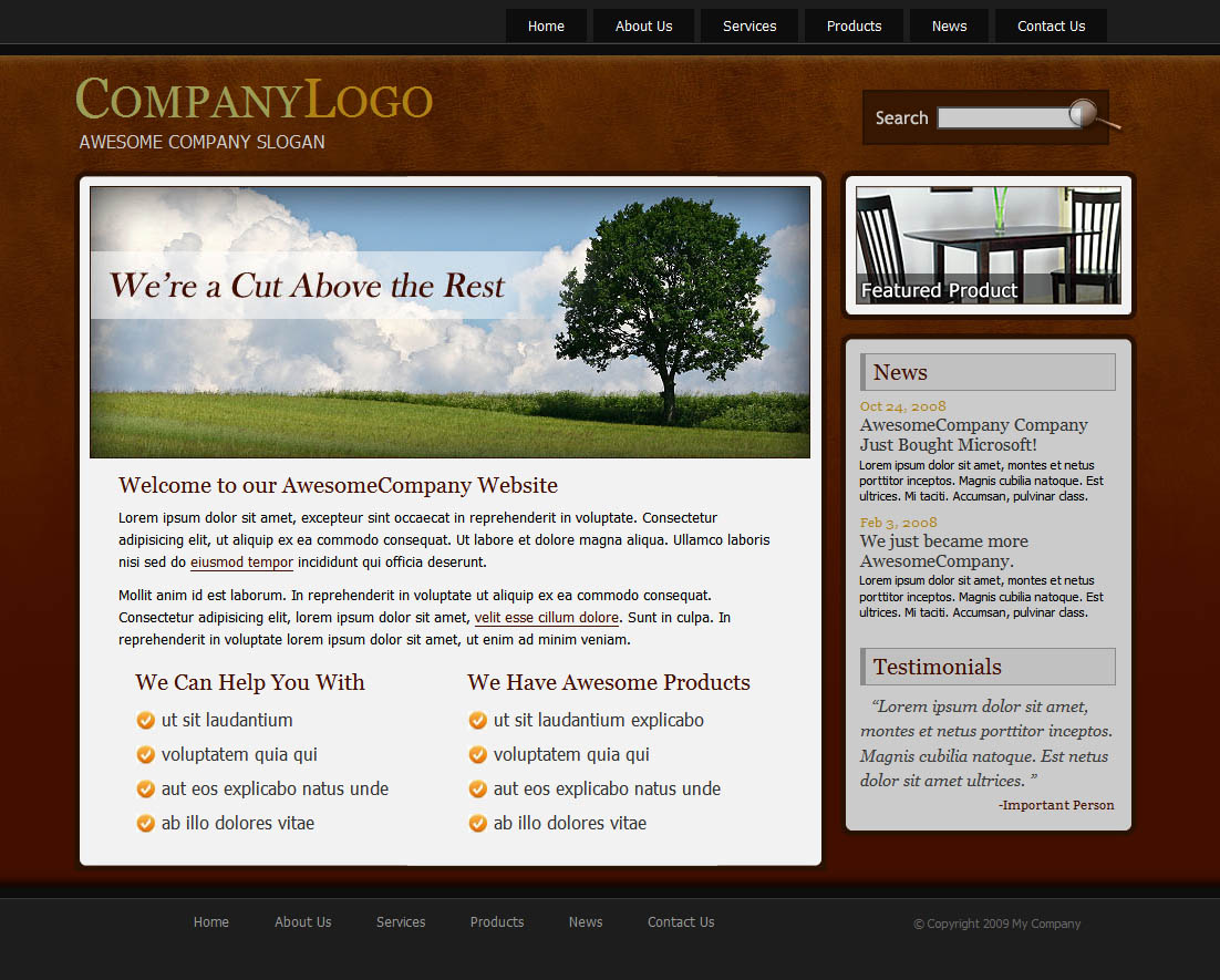 Awesome Company - The Homepage of Awesome Company.