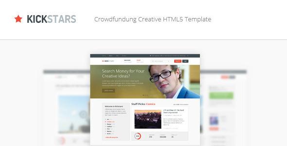 ThemeForest Kickstars Crowdfunding HTML5 Template 4866641