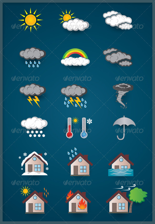 GraphicRiver Weather Icons 4866829