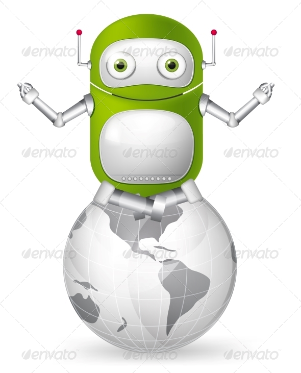 GraphicRiver Green Robot 4867014