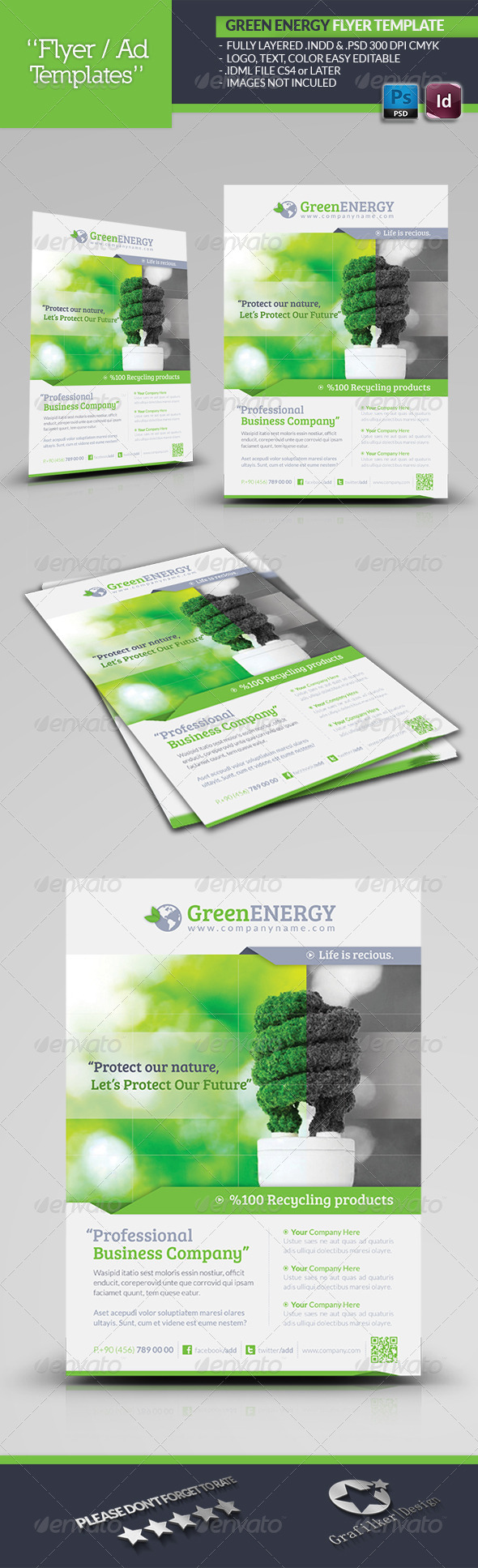 GraphicRiver Green Energy Flyer Template 4867028