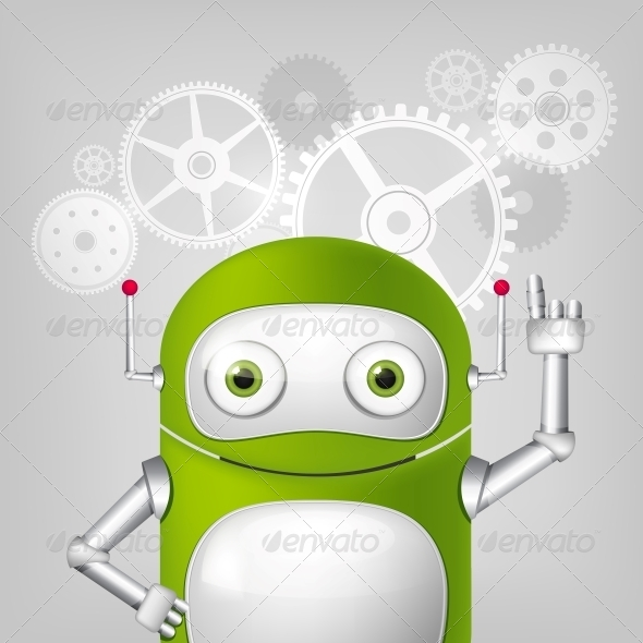 GraphicRiver Green Robot 4867030