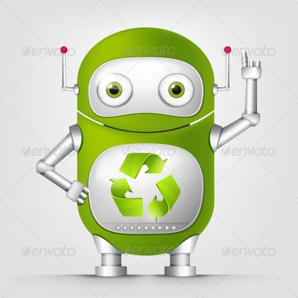 GraphicRiver Green Robot 4867058