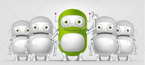 GraphicRiver Green Robot 4867077