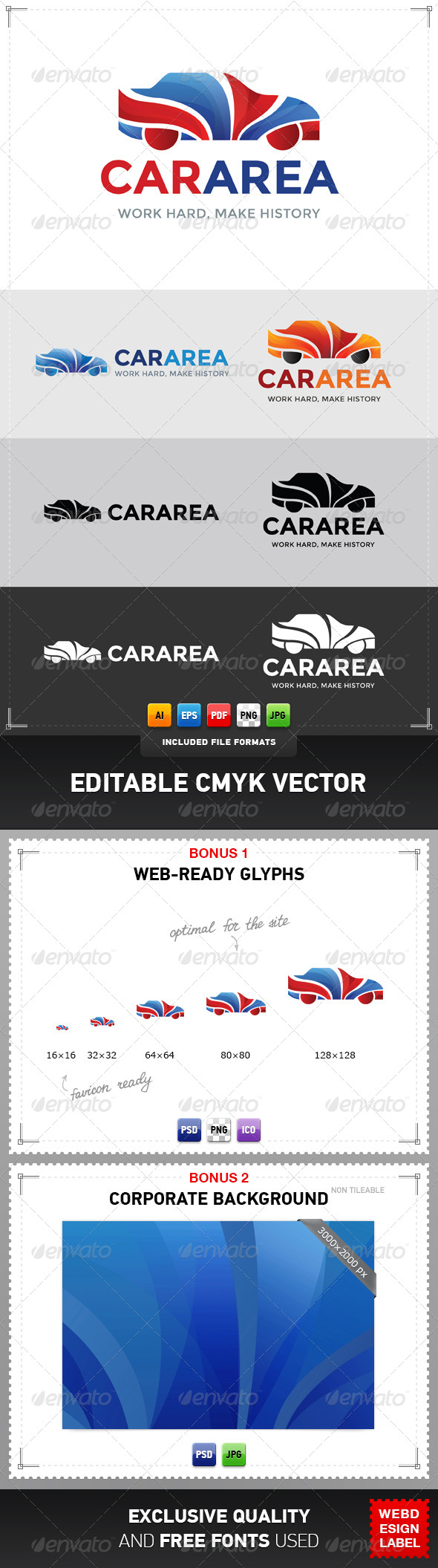 GraphicRiver Car Area Logo 4867188