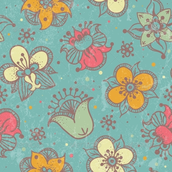 GraphicRiver Seamless Floral Pattern 4867541