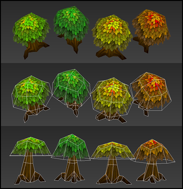3DOcean Low Poly Trees 4868929