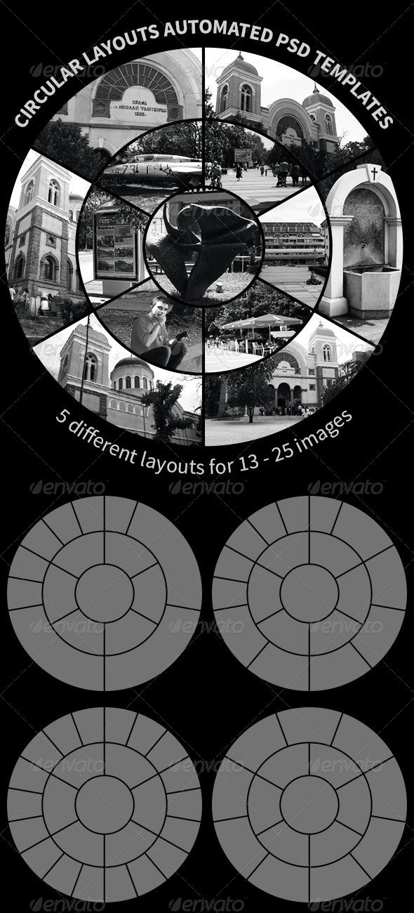 GraphicRiver Circular Layouts Automated PSD Templates 4868959