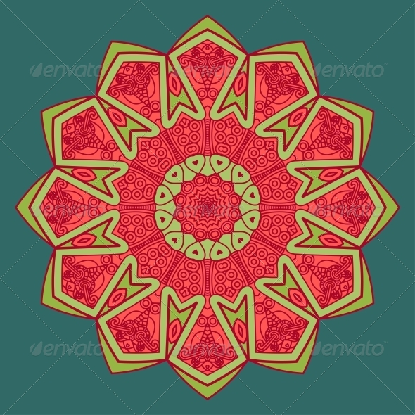 GraphicRiver Vector Round Decorative Design Element 4869075