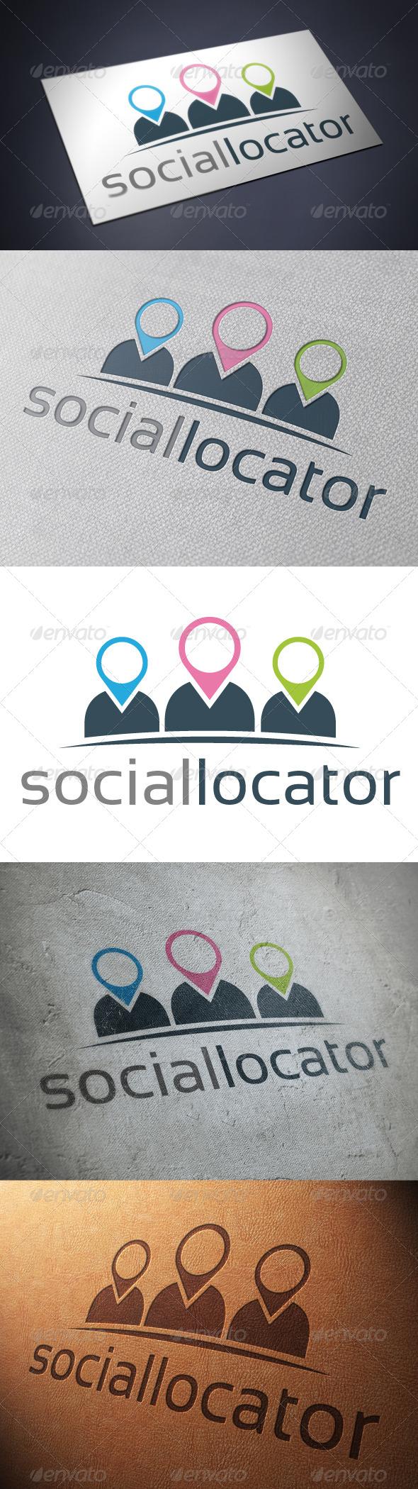 GraphicRiver Social Location Logo Template 4869097