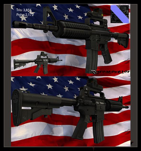 3DOcean M4A1 Assault Carabine 502283