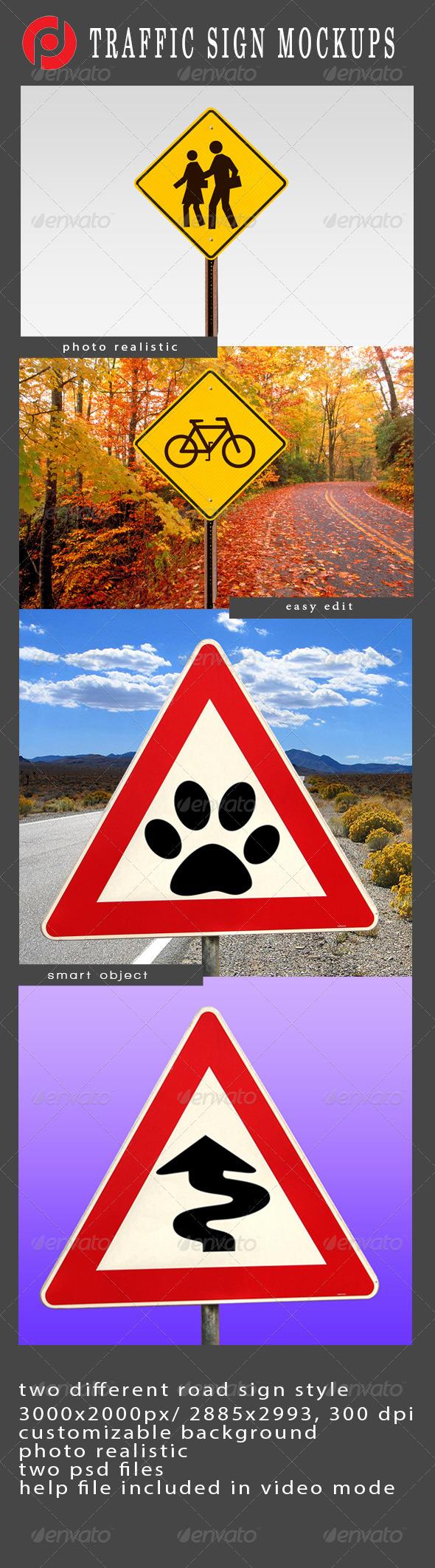 GraphicRiver Traffic Sign Mockup 4869508