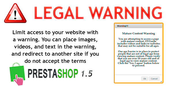 Prestashop LegalWarning Module - CodeCanyon Item for Sale