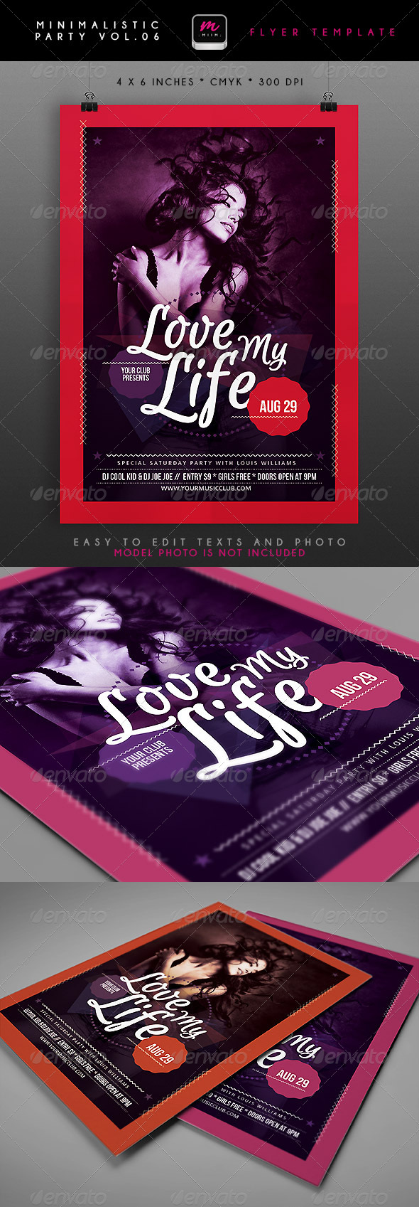 GraphicRiver Minimalistic Party Flyer 6 4869618