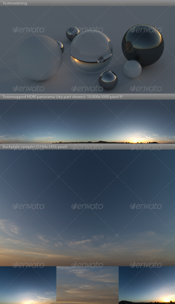 3DOcean HDRI spherical sky panorama 1755- dusk twilight 4869653