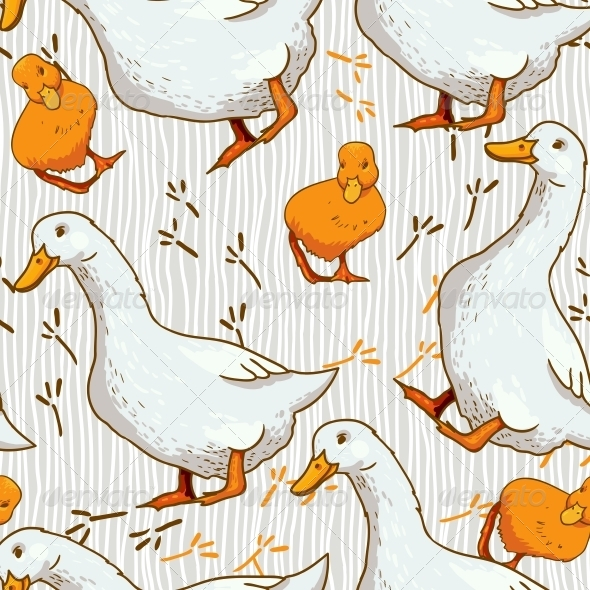 GraphicRiver Cartoon Wallpaper with Duck 4869820