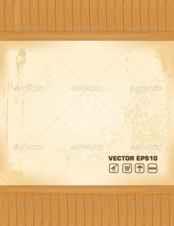 GraphicRiver Wooden Vector Background 4870091