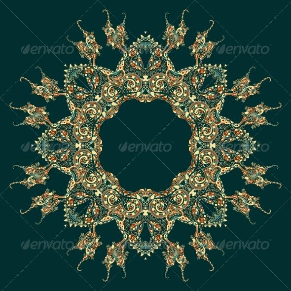 GraphicRiver Ornate Vector Dragon Patterns 4870313