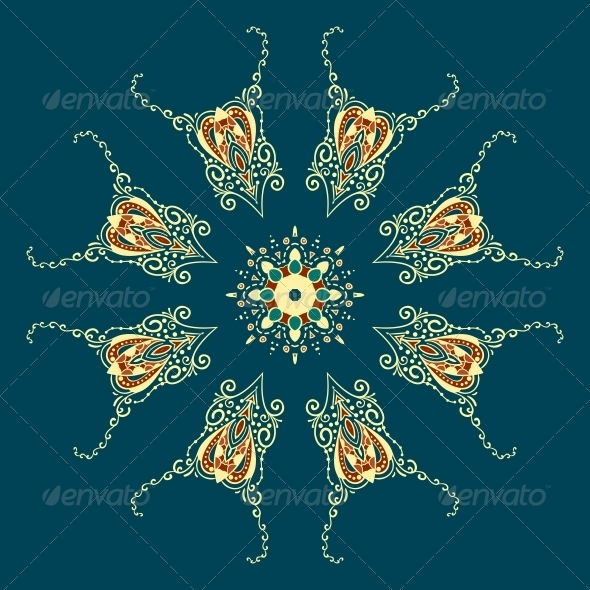 GraphicRiver Ornate Vector Dragon Patterns 4870316