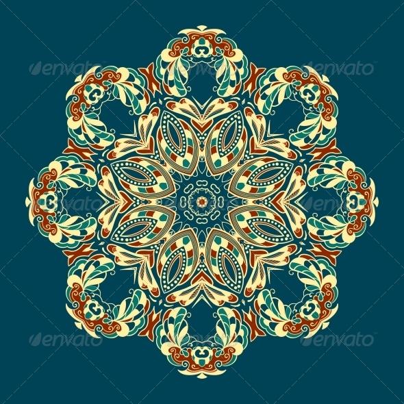 GraphicRiver Ornate Vector Dragon Patterns 4870319