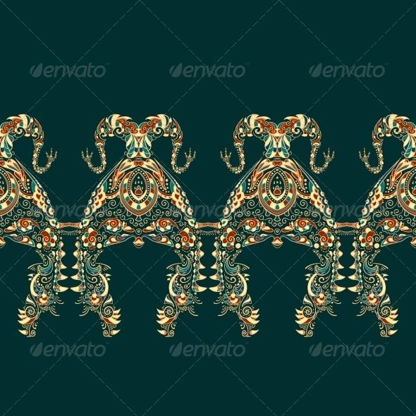 GraphicRiver Ornate Vector Dragon Patterns 4870328