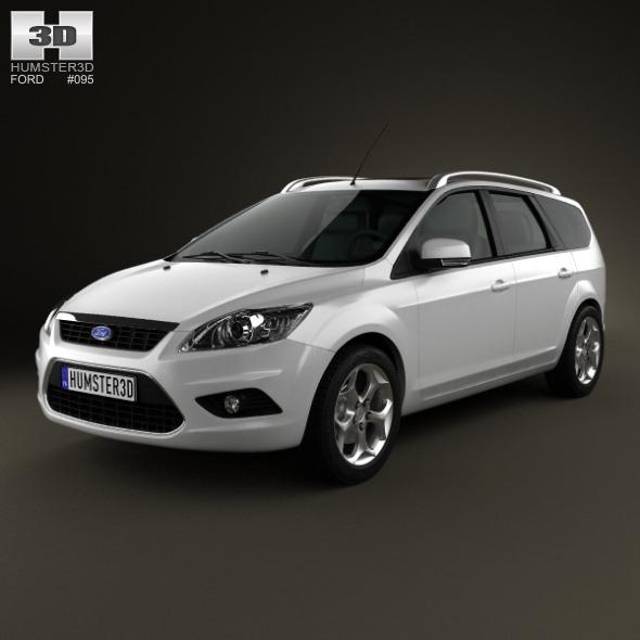 3DOcean Ford Focus estate 2008 4870418