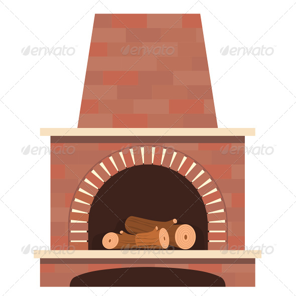 GraphicRiver House Fireplace Vector 4870478