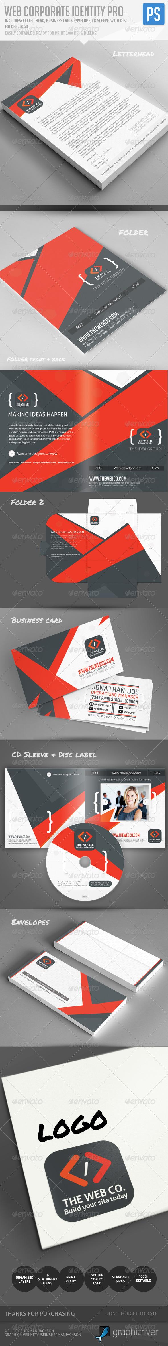 GraphicRiver Web Corporate Identity Pro 4870482