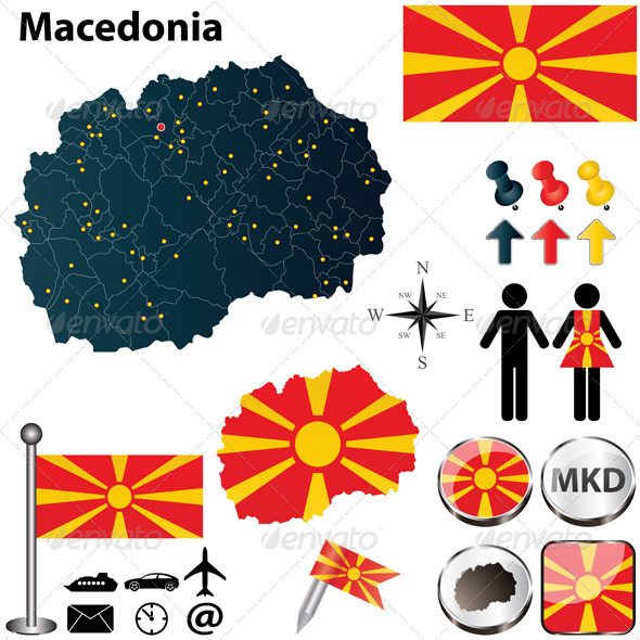 GraphicRiver Map of Macedonia 4870584