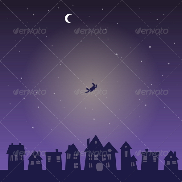 GraphicRiver Falling from the Sky in the Middle of the Night 4870771