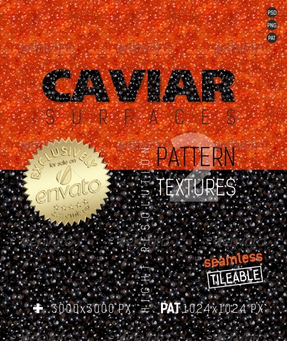3DOcean Caviar Surfaces Texture 4871150