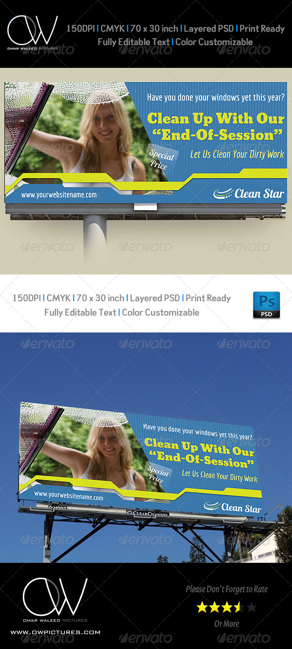 GraphicRiver Cleaning Services Billboard 4871157