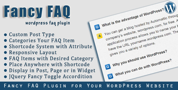 Fantaisie FAQ - WordPress Plugin FAQ - WorldWideScripts.net objet en vente