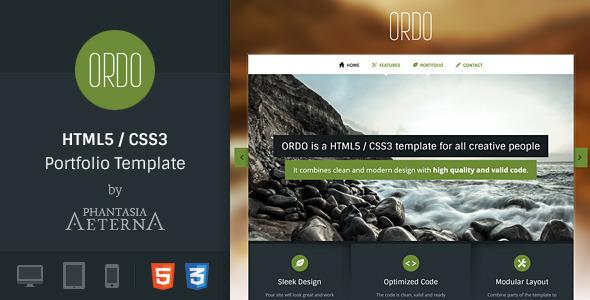 ThemeForest Ordo Portfolio HTML5 Template 4871272